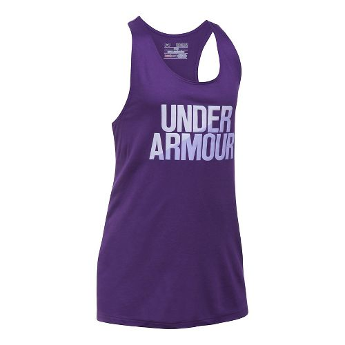 Under Armour Girls Sleeveless & Tank Tops Technical Tops - Purple/Lavender Ice YXL