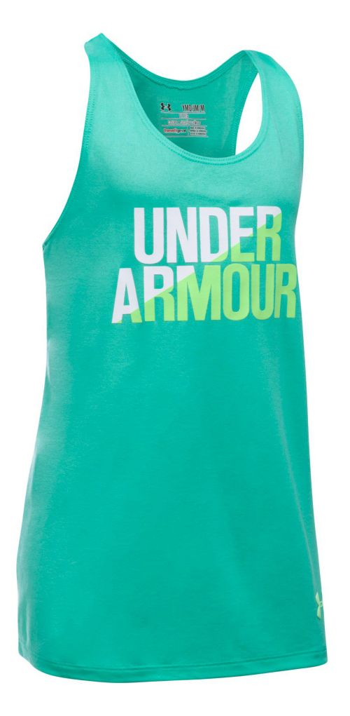 Under Armour Girls Sleeveless & Tank Tops Technical Tops - Absinthe Green/White YL