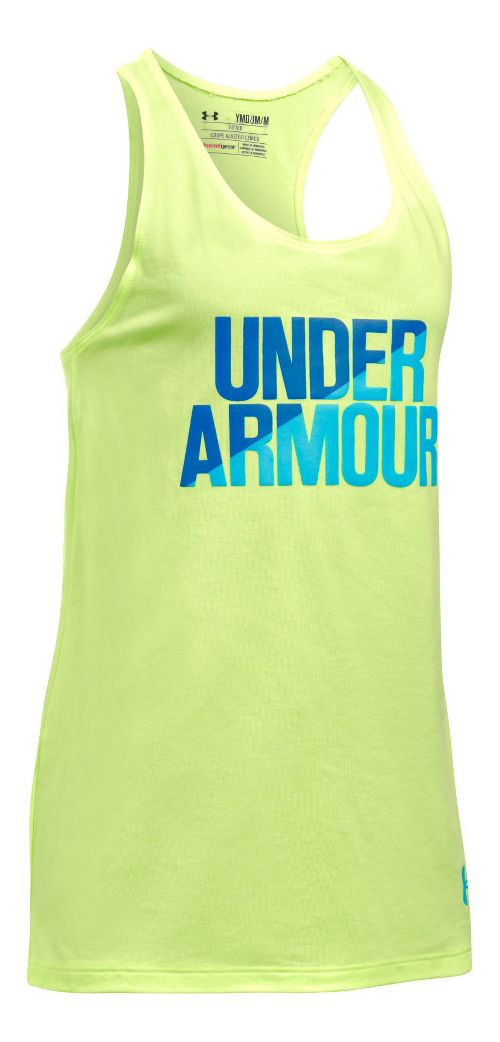 Under Armour Girls Sleeveless & Tank Tops Technical Tops - Pale Moonlight/Blue YM