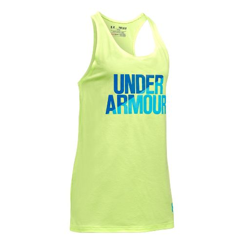 Under Armour Girls Sleeveless & Tank Tops Technical Tops - Pale Moonlight/Blue YXL