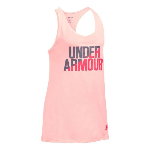 Under Armour Girls Sleeveless & Tank Tops Technical Tops - Ballet Pink/Flint YXS