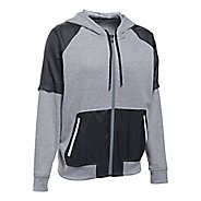 Womens Under Armour French Terry Warm Up Half-Zips & Hoodies Technical Tops