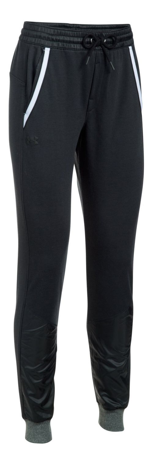 Womens Under Armour French Terry Warm Up Pants - Black XL