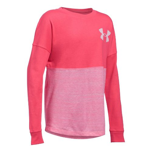 Under Armour Girls Varsity Crew Long Sleeve Technical Tops - Gala YM