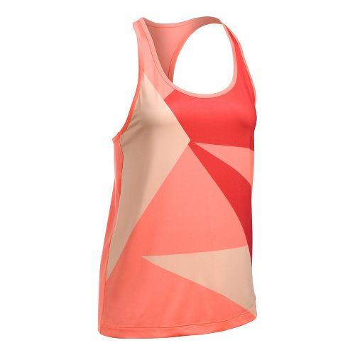 Womens Under Armour Geo Run Sleeveless & Tank Tops Technical Tops - Orange/White L