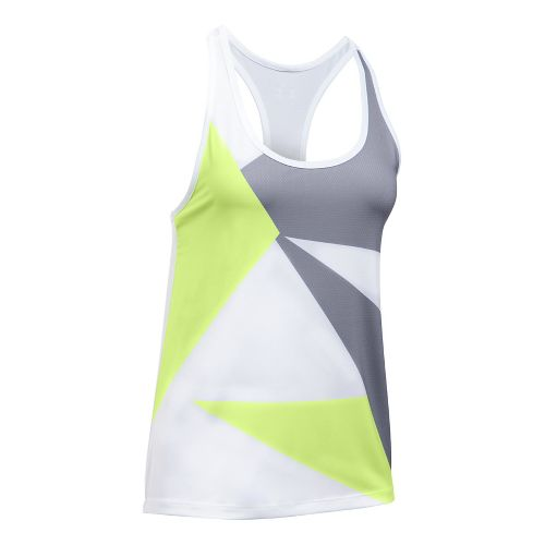 Womens Under Armour Geo Run Sleeveless & Tank Tops Technical Tops - Moonlight/White L