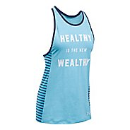 Womens Under Armour Healthy Favorite Sleeveless & Tank Tops Technical Tops - Blues/Purple S