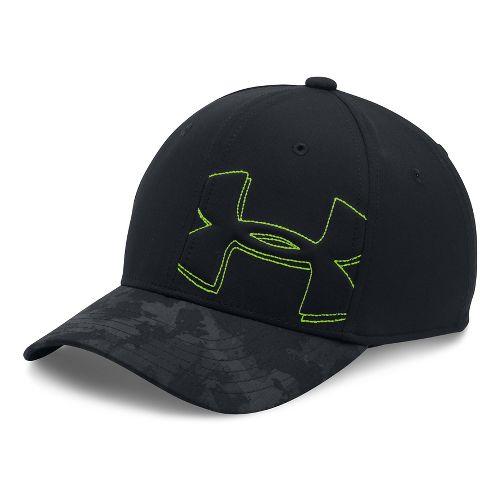 Under Armour Boys Billboard Cap 2.0 Headwear - Black/Fuel Green XS/S