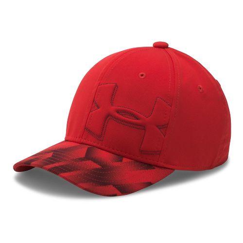 Under Armour Boys Billboard Cap 2.0 Headwear - Black/Fuel Green S/M