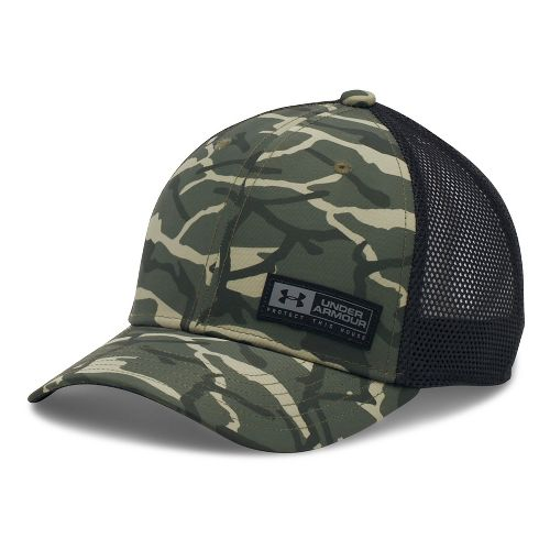 Under Armour Boys Low Crown Graphic Trucker Headwear - Downtown Green/Black