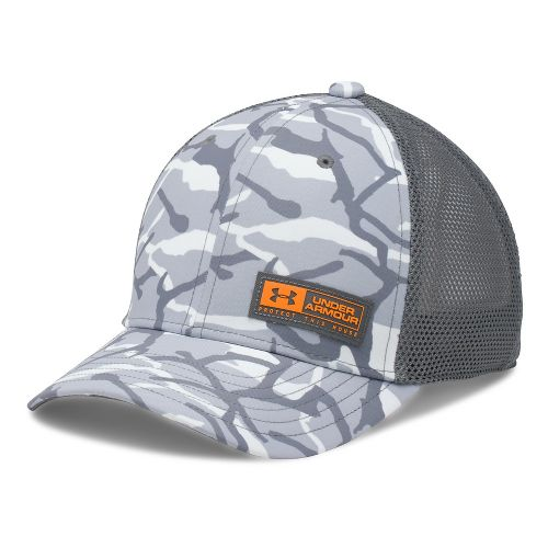 Under Armour Boys Low Crown Graphic Trucker Headwear - Overcast/Graphite