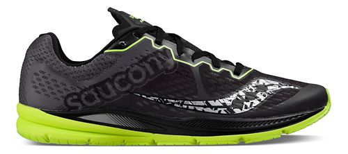 Mens Saucony Fastwitch 8 Running Shoe - Black Citron 12.5