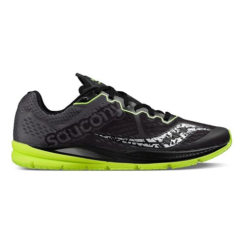 Mens Saucony Fastwitch 8 Running Shoe - Black Citron 10.5