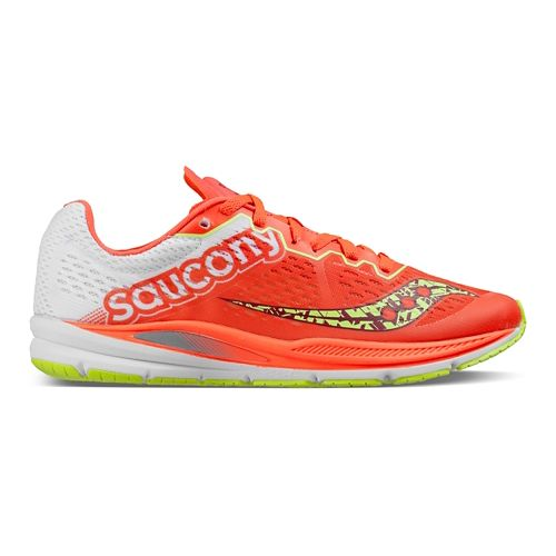 Womens Saucony Fastwitch 8 Running Shoe - Coral Citron 7