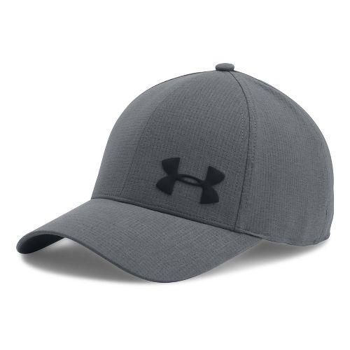 Mens Under Armour AirVent Core Cap Headwear - Stealth Grey M/L