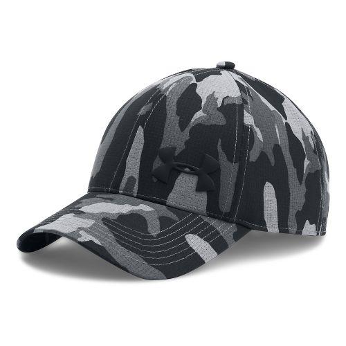 Mens Under Armour AirVent Core Cap Headwear - Graphite/Black L/XL