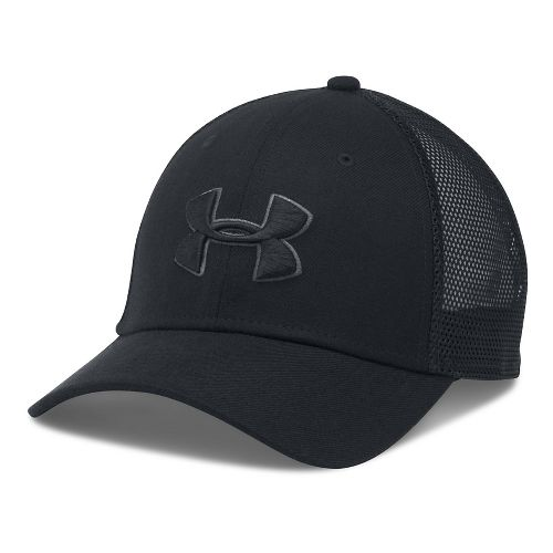 Mens Under Armour Closer Trucker Cap Headwear - Black/Graphite
