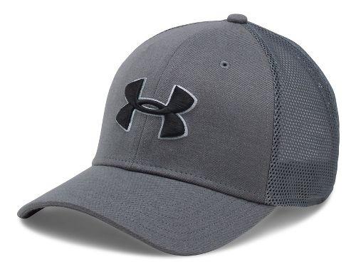 Mens Under Armour Closer Trucker Cap Headwear - Graphite/Steel