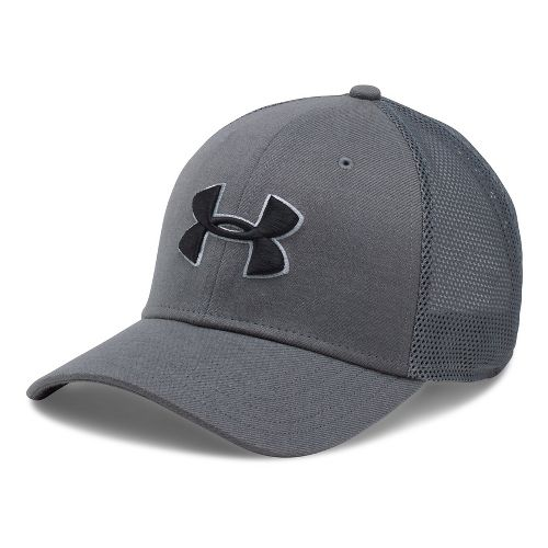 Mens Under Armour Closer Trucker Cap Headwear - Graphite/Steel