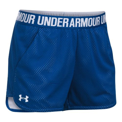 Womens Under Armour Mesh Play Up Cycling Shorts - Royal/White M
