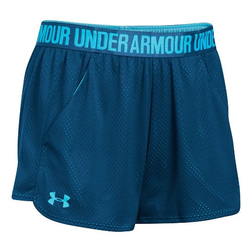 Womens Under Armour Mesh Play Up Cycling Shorts - Navy/Blues S