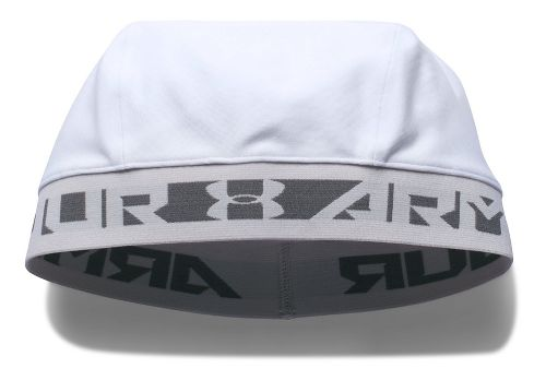 Mens Under Armour CoolSwitch Skull Cap Headwear - White/Graphite