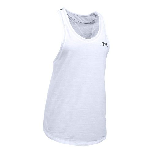 Womens Under Armour Mesh Wordmark Sleeveless & Tank Tops Technical Tops - White XL