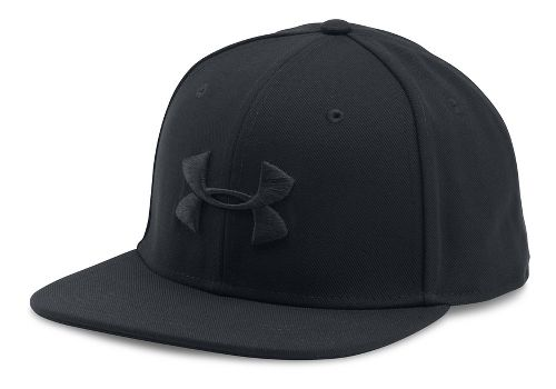 Mens Under Armour Huddle Snapback Headwear - Black/Black