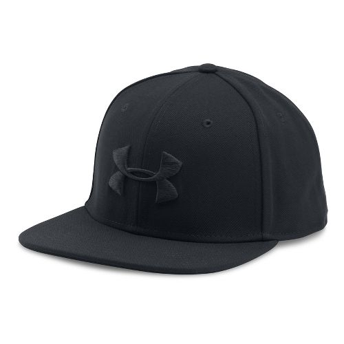 Mens Under Armour Huddle Snapback Headwear - Black/Black