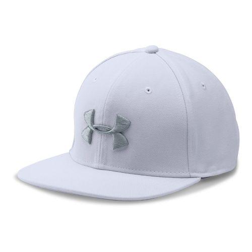 Mens Under Armour Huddle Snapback Headwear - White