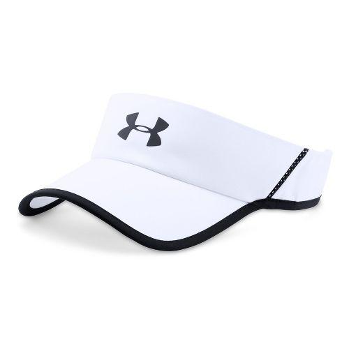 Mens Under Armour Shadow Visor 4.0 Headwear - White/Black