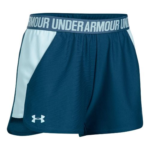 Womens Under Armour Play Up 2.0 Lined Shorts - Navy/Skylight XS