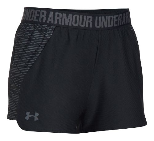 Womens Under Armour Play Up 2.0 Printed Lined Shorts - Black L