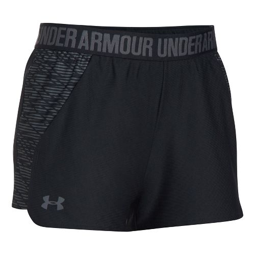 Womens Under Armour Play Up 2.0 Printed Lined Shorts - Black XL
