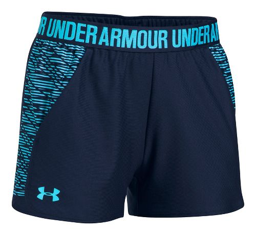 Womens Under Armour Play Up 2.0 Printed Lined Shorts - Europa Purple S