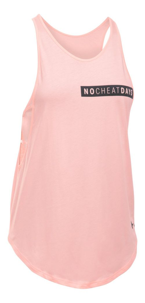 Womens Under Armour No Cheat Days Strappy Sleeveless & Tank Tops Technical Tops - Pink/Anthracite L
