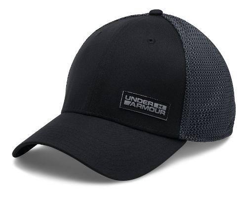 Mens Under Armour Twist Knit Low Crown Cap Headwear - Black/Stealth Grey L/XL