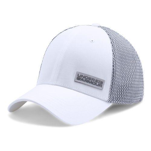 Mens Under Armour Twist Knit Low Crown Cap Headwear - White/Overcast Grey L/XL