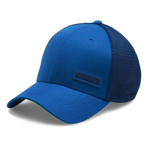 Mens Under Armour Twist Knit Low Crown Cap Headwear - Blue Marker/Black XL/XXL