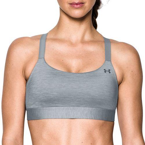 Womens Under Armour Eclipse Mid Heather Sports Bra - True Grey Heather L