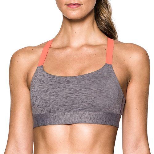 Womens Under Armour Eclipse Mid Heather Sports Bra - Purple/Orange S