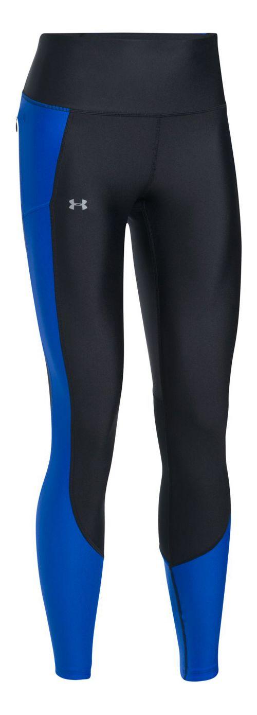 Womens Under Armour Run True Tights & Leggings Pants - Lapis Blue S