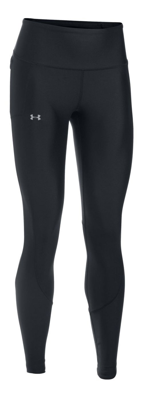 Womens Under Armour Run True Tights & Leggings Pants - Black/Black S