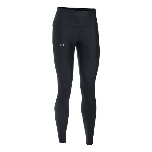 Womens Under Armour Run True Tights & Leggings Pants - Black/Black M