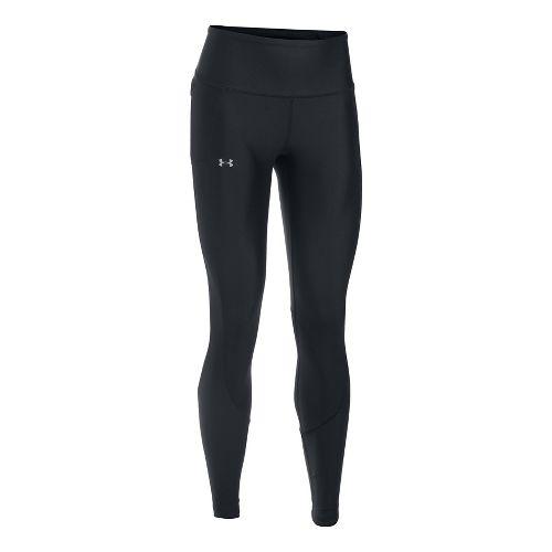 Womens Under Armour Run True Tights & Leggings Pants - Black/Black XL