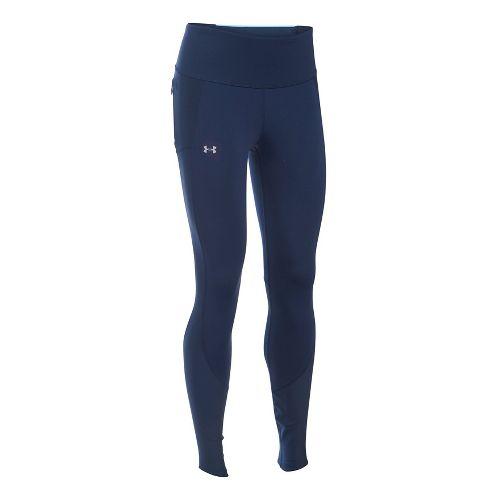 Womens Under Armour Run True Tights & Leggings Pants - Midnight Navy/Maui S
