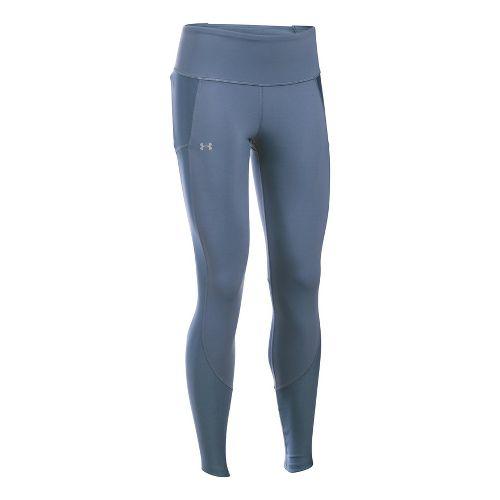 Womens Under Armour Run True Tights & Leggings Pants - Aurora Purple/White L