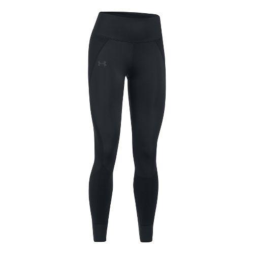 Womens Under Armour ColdGear Reactor Run Tights & Leggings Pants - Black/Black XXL