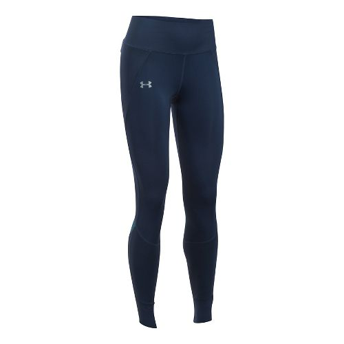 Womens Under Armour ColdGear Reactor Run Tights & Leggings Pants - Midnight Navy L