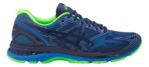Mens ASICS GEL-Nimbus 19 Lite-Show Running Shoe - Blue/Green 10